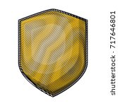 shield with colored crayon... | Shutterstock .eps vector #717646801