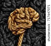 brain disorder mental health... | Shutterstock . vector #717647071