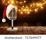Microphone With Santa Hat And...