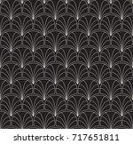 art deco seamless pattern.... | Shutterstock .eps vector #717651811