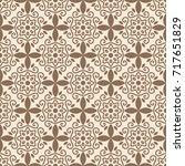 arabic pattern. islamic  indian ... | Shutterstock .eps vector #717651829