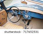 classic car interior | Shutterstock . vector #717652531