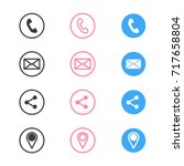 set of contact detail icon... | Shutterstock .eps vector #717658804