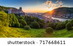 panoramic view of beautiful... | Shutterstock . vector #717668611