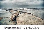 panoramic view of guanabo beach ... | Shutterstock . vector #717670279