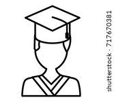 student graduation cartoon | Shutterstock .eps vector #717670381