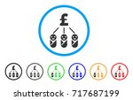 kid pound expenses rounded icon.... | Shutterstock .eps vector #717687199