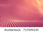 abstract polygonal space low... | Shutterstock . vector #717690145