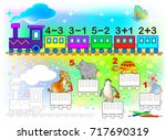 mathematical worksheet for... | Shutterstock .eps vector #717690319