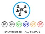 euro social links rounded icon. ... | Shutterstock .eps vector #717692971