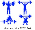man lifting weights as symbol... | Shutterstock . vector #71769544