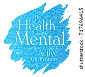 conceptual mental health or... | Shutterstock . vector #717696415