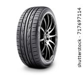 Car tire isolated on white...