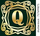 luxury antique art deco gold... | Shutterstock . vector #717699871