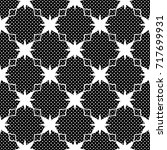 seamless pattern with polka... | Shutterstock . vector #717699931