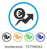 euro sales growth icon. vector... | Shutterstock .eps vector #717700261