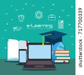 online education concept | Shutterstock .eps vector #717700339