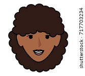 beautiful woman head avatar... | Shutterstock .eps vector #717703234