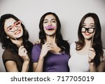 happy time. stylish sexy... | Shutterstock . vector #717705019
