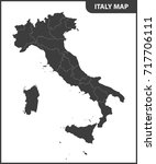 the detailed map of the italy... | Shutterstock . vector #717706111