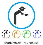 gentleman beggar icon. vector...   Shutterstock .eps vector #717706651