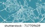 detailed vector map of limerick ... | Shutterstock .eps vector #717709639