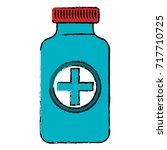 bottle medical isolated icon | Shutterstock .eps vector #717710725