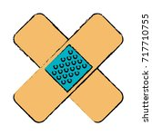 cure bandages isolated icon | Shutterstock .eps vector #717710755