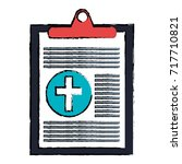 medical order isolated icon | Shutterstock .eps vector #717710821