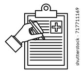 medical order with pencil... | Shutterstock .eps vector #717711169