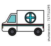 ambulance vehicle isolated icon | Shutterstock .eps vector #717711295