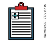 medical order isolated icon | Shutterstock .eps vector #717711415