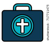 medical kit isolated icon | Shutterstock .eps vector #717711475