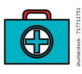medical kit isolated icon | Shutterstock .eps vector #717711751
