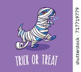 trick or treat card. halloween... | Shutterstock .eps vector #717719779