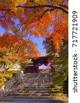 manshuin temple emperor's gate... | Shutterstock . vector #717721909
