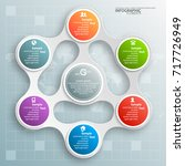 vector abstract 3d paper... | Shutterstock .eps vector #717726949