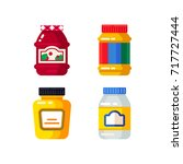 vector set of the colorful jar... | Shutterstock .eps vector #717727444