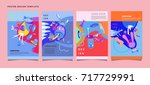 abstract  colorful liquid and...   Shutterstock .eps vector #717729991
