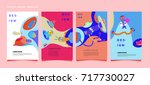 abstract  colorful liquid and...   Shutterstock .eps vector #717730027