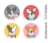 vector illustration design set... | Shutterstock .eps vector #717732601