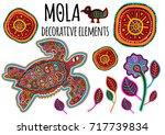 beautiful ethnic vector... | Shutterstock .eps vector #717739834