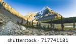 mount robson valley | Shutterstock . vector #717741181