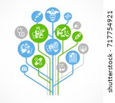 medical outline concept ... | Shutterstock .eps vector #717754921
