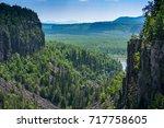 ouimet canyon | Shutterstock . vector #717758605