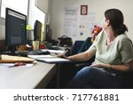 startup business people working ... | Shutterstock . vector #717761881