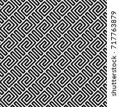 geometric seamless pattern in... | Shutterstock .eps vector #717763879