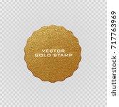 premium quality golden label ... | Shutterstock .eps vector #717763969