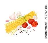 italian cuisine. pasta... | Shutterstock .eps vector #717764101