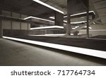 abstract  concrete interior... | Shutterstock . vector #717764734